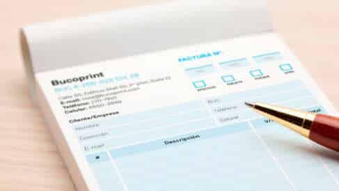 Libretas de facturas BucoPrint